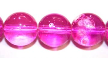 35pieces x 12mm Persian Rose pink colour round shape bubble gum glass beads / speckled glass beads